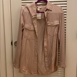 H&M Dusty Rose button up Tunic